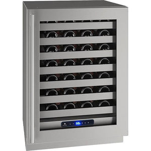 "U-Line- UHWC524-SG01A Wine Cooler 49 Bottles 24"" Wide Single Zone with Reversible Hinge Stainless Doors Class 5 - U-Line - 49 Bottles"