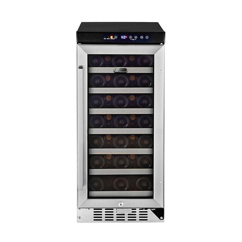 "Whynter 19 Bottles Whynter Wine Refrigerator 33 Bottle 15"" Built-In Stainless Steel BWR-33SD"
