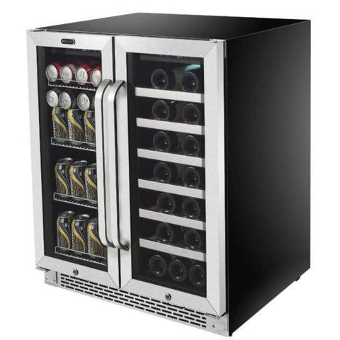 "Whynter BWB-3388FDS Beverage Center- 30"" Wide 33 Bottles Built-In /Dual Zone - Whynter - 33 Bottles"