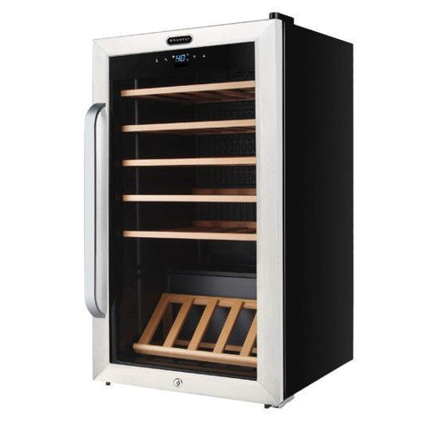 "Image of Whynter FWC-341TS Wine Cooler- 19"" Wide 34 Bottles Single Zone Freestanding Stainless Steel - Whynter - 34 Bottles"