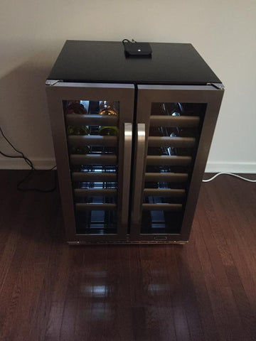 Image of Whynter 40 Bottles Whynter Elite 40 Bottle Dual Zone Refrigerator Wine Cooler BWR-401DS