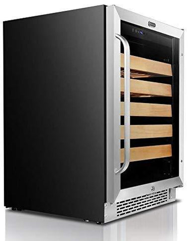 "Image of Whynter 54 Bottles Whynter Wine Refrigerator 54 Bottle 24"" Built-In Stainless Steel BWR-541STS"