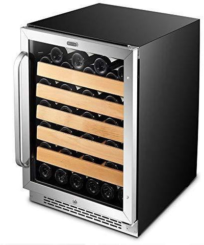 "Whynter 54 Bottles Whynter Wine Refrigerator 54 Bottle 24"" Built-In Stainless Steel BWR-541STS"