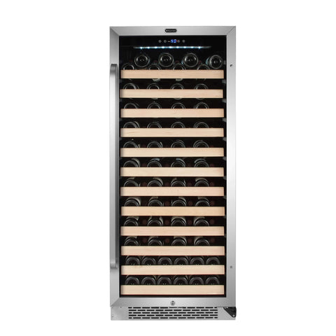 Image of Whynter 100 Bottle Stainless Steel Freestanding Wine Cooler BWR-1002SD - Whynter - 100 Bottles