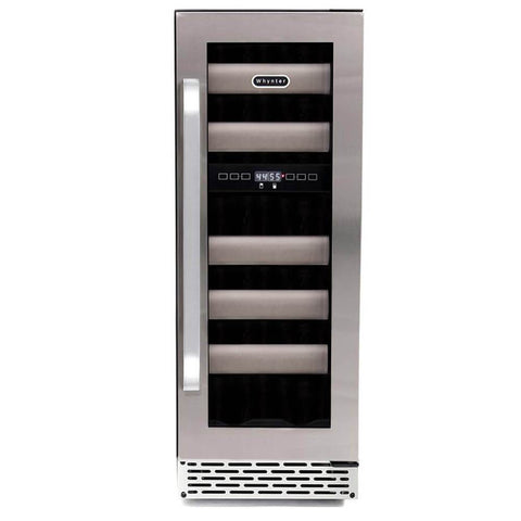 Image of Whynter Elite 17 Bottle Seamless Stainless Steel Dual Zone Door Wine Cooler BWR-171DS - Whynter - 17 Bottles