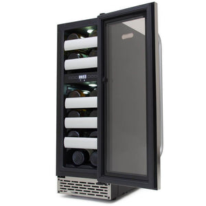 Whynter Elite 17 Bottle Seamless Stainless Steel Dual Zone Door Wine Cooler BWR-171DS - Whynter - 17 Bottles
