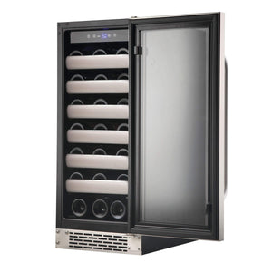 Whynter Elite 33 Bottle Seamless Stainless Steel Door Freestanding Wine Cooler BWR-331SL - Whynter - 33 Bottles