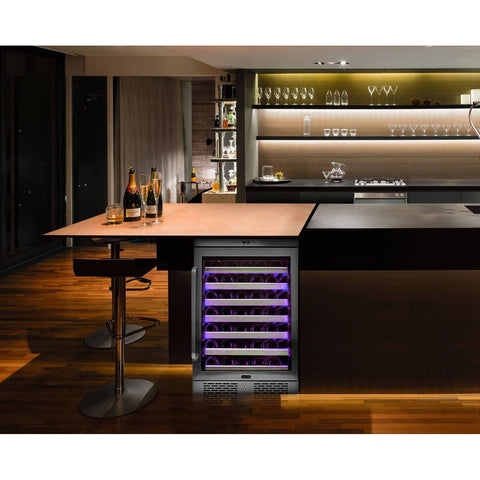 Image of Whynter Elite 54 Bottle Spectrum Lightshow Built-in Wine Cooler BWR-545XS - Whynter - 54 Bottles
