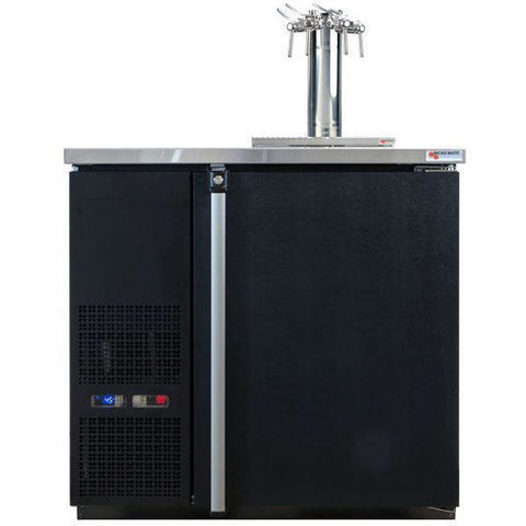 Micro Matic MDD36W-E-C Wide 4 Keg Pro-Line Wine E-Series Dual Zone Insulated Wine Cooler Dispenser With 4 Finesse Faucets - Wine Cooler Deals - 4 Keg Dispenser