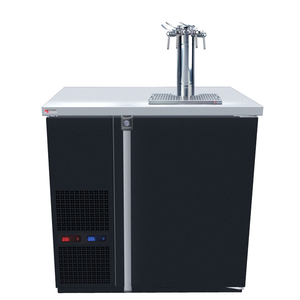 Micro Matic MDD36W-E-C Wide 4 Keg Pro-Line Wine E-Series Dual Zone Insulated Wine Cooler Dispenser With 4 Finesse Faucets