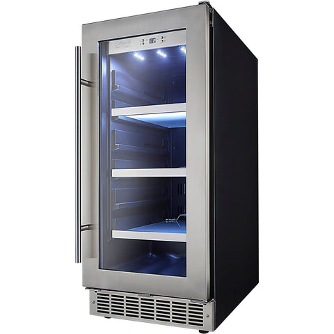 "Image of Danby DBC031D4BSSPR  Beverage Center 8 Wine Bottles 15"" Wide 3.1 cu.ft. Capacity w/ Stainless Steel Door Piedmont - Danby - 66 BC"