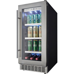 "Danby DBC031D4BSSPR  Beverage Center 8 Wine Bottles 15"" Wide 3.1 cu.ft. Capacity w/ Stainless Steel Door Piedmont - Danby - 66 BC"