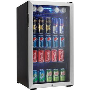 "Danby DBC120BLS Beverage Center 3.3 CuFt 17.5"" Wide Single Zone Free Standing- Black/Stainless - Danby - 120 BC"