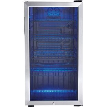 "Image of Danby DBC120BLS Beverage Center 3.3 CuFt 17.5"" Wide Single Zone Free Standing- Black/Stainless - Danby - 120 BC"