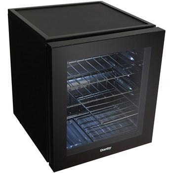 "Image of Danby  DWC018A1BDB Wine Cooler 16 Bottle 18"" Wide w/ Reversible Door, Smoked Glass Door, Counter-top - Black - Danby - 16 Bottles"