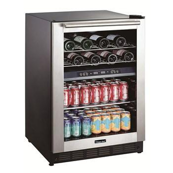 "Image of Magic Chef  BTWB530ST1 Wine Center 44 Bottles 23.4"" Wide Dual Zone Built-In Wine w/ Stainless Steel Door - Magic Chef - 28 Bottles"