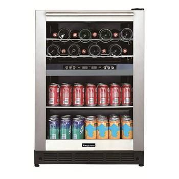 "Magic Chef  BTWB530ST1 Wine Center 44 Bottles 23.4"" Wide Dual Zone Built-In Wine w/ Stainless Steel Door - Magic Chef - 28 Bottles"