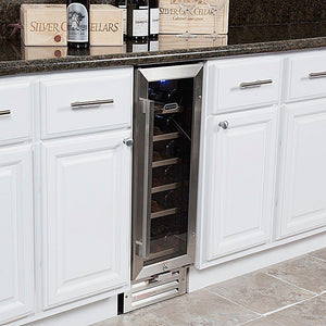 "Wine Cooler Deals Whynter Wine Refrigerator 19 Bottle 12"" Built-In Stainless Steel BWR-18SD"