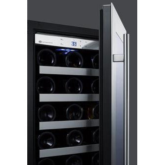 "Image of Summit  CL15WC Wine Cooler 38 Bottles Undercounter Slim 15"" Wide Built-In Wine Cellar with LED Lighting - Summit - 38 Bottles"