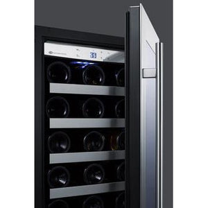 "Summit  CL15WC Wine Cooler 38 Bottles Undercounter Slim 15"" Wide Built-In Wine Cellar with LED Lighting - Summit - 38 Bottles"