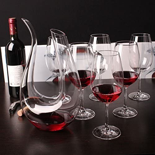 U shaped wine decanter