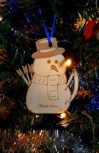 Snowman Archer Christmas Decoration