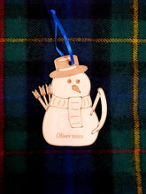 Load image into Gallery viewer, Snowman Archer Christmas Decoration