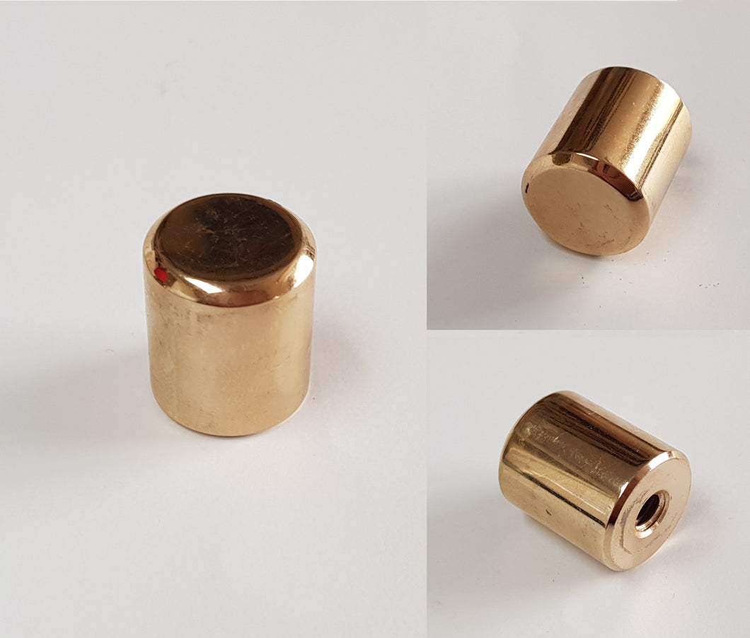Gold Plated End Weight - 19mm - 45g