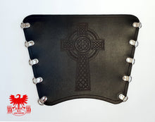 Load image into Gallery viewer, KG Leather Bracer - Celtic Cross (1)