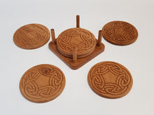 Load image into Gallery viewer, Oak Coasters - Celtic 2
