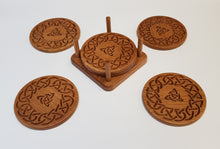 Load image into Gallery viewer, Oak Coasters - Celtic 3
