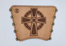 Load image into Gallery viewer, KG Leather Bracer - Celtic Cross (5)