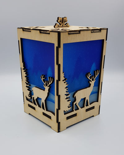 Stag in Forest Lantern