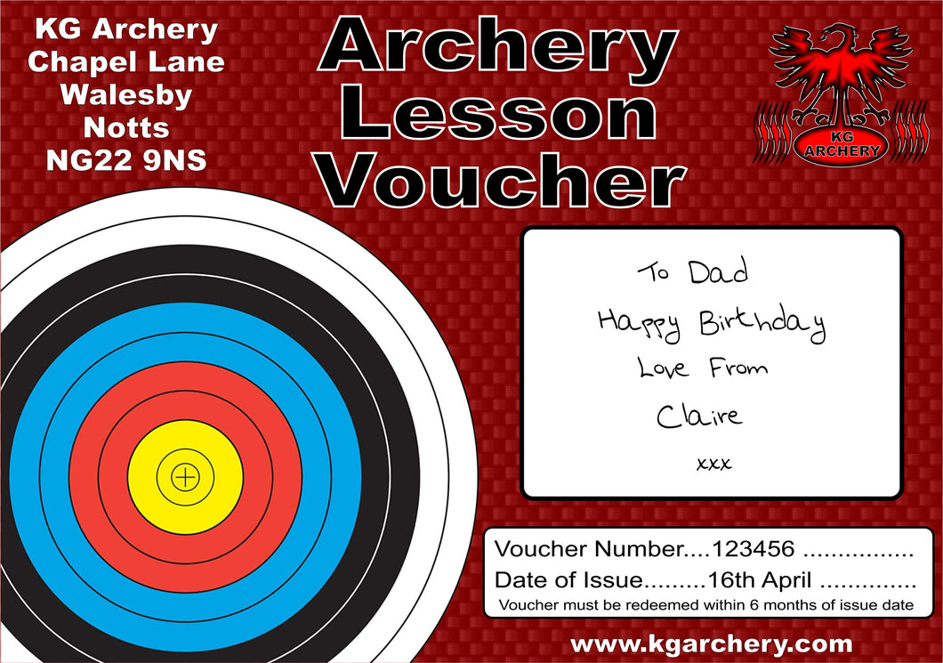 Archery Lesson Voucher