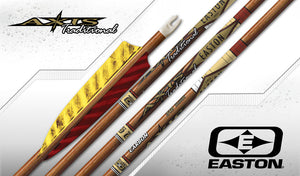 "Easton Axis Traditional Carbon Arrows x12 with 4"" Feathers"