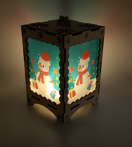Jolly Snowman Tea Light Lantern