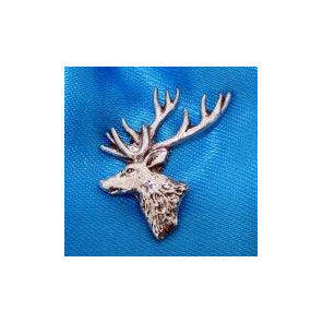 Stag Head Pin Badge