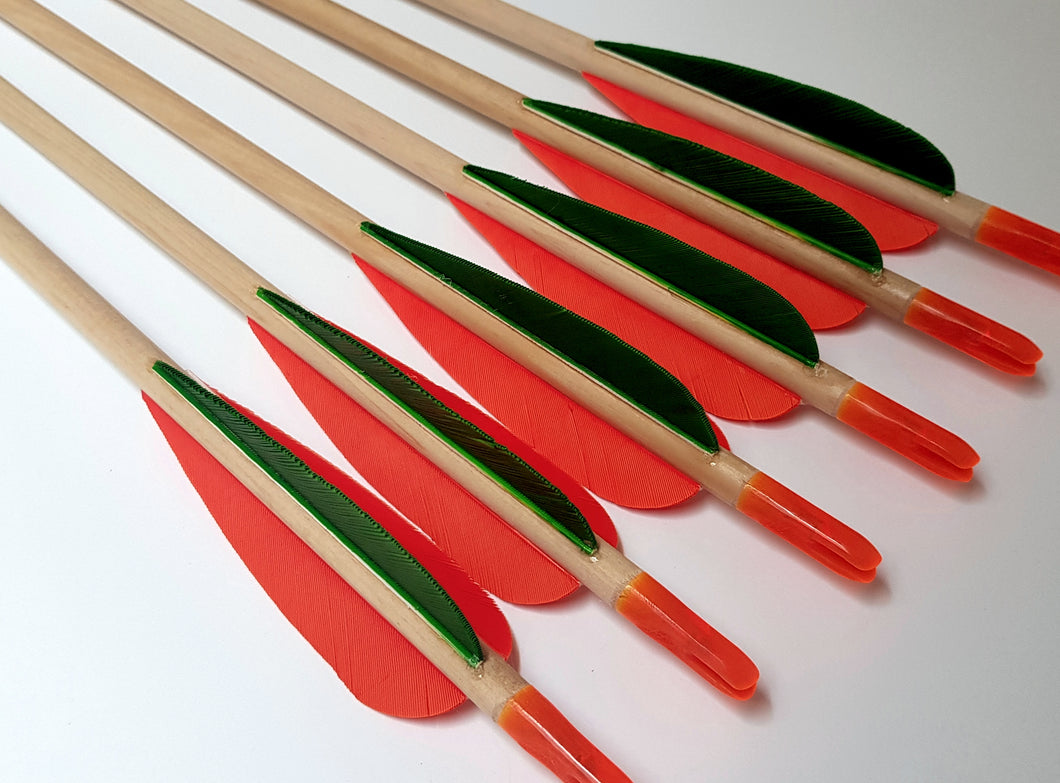 KG Standard Wooden Arrows with 3
