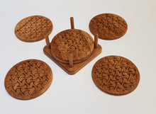 Load image into Gallery viewer, Oak Coasters - Waves