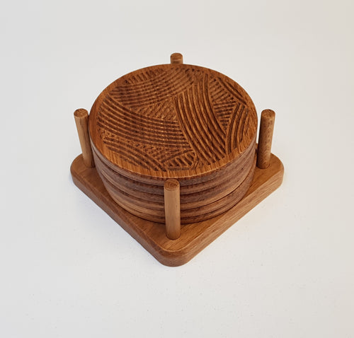 Oak Coasters - Yarn