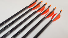 "Load image into Gallery viewer, Easton X7 Arrows x8 with 3"" Feathers"
