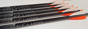 "Easton X7 Arrows x8 with 3"" Feathers"