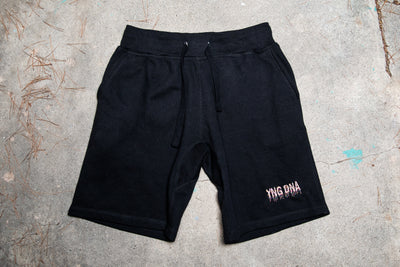 Rainbow Drip Sweat Shorts Black