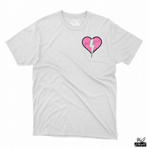 YNG DNA HEART T-SHIRT - White