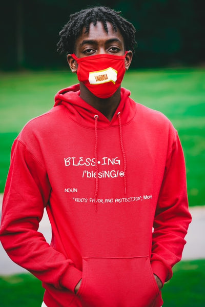 Blessing Definition Hoodie Red with ATL Mask