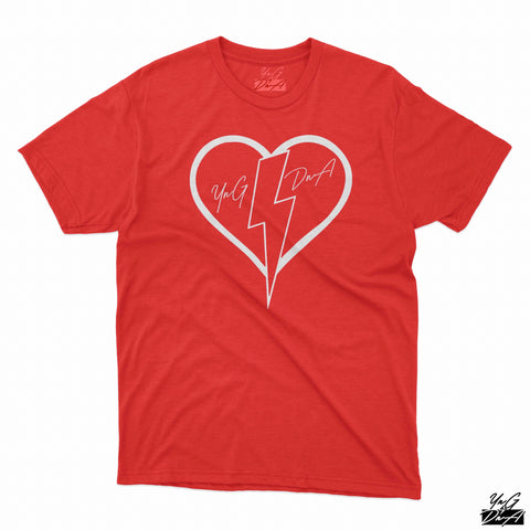 YNG DNA HEART SHIRT - Red