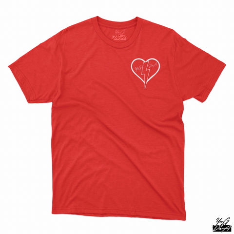 YNG DNA HEART T-SHIRT - Red