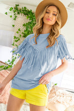 Blue Sierra Fringe Top