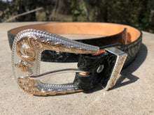 Nuevo Rancho Black Tooled Western Belt