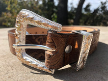 Nuevo Rancho Antique Tooled Western Belt